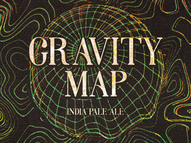 Counter Weight Gravity Map beer Label Full Size
