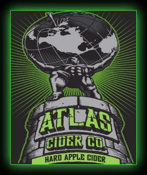 Atlas Hard Apple Cider beer Label Full Size