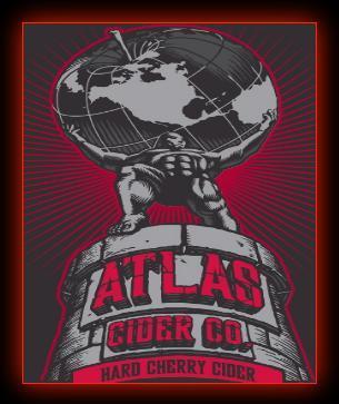 Atlas Hard Cherry Cider beer Label Full Size