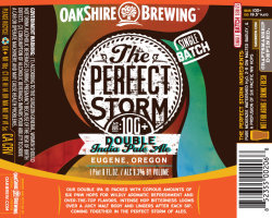 Oakshire Perfect Storm Double IPA beer Label Full Size