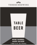 Threes Barrel-Aged Table Beer (Brunello) beer