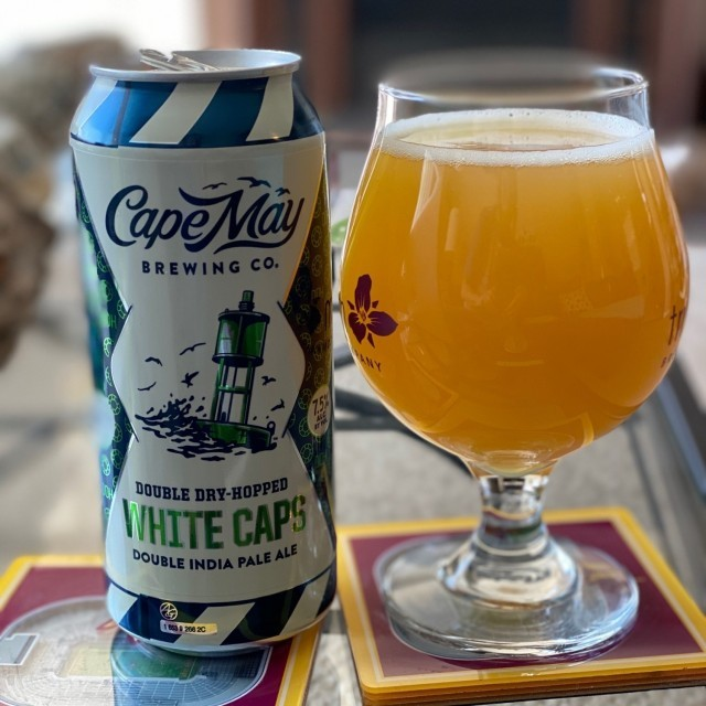 Cape May DDH White Caps beer Label Full Size