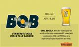 SingleCut Bob Sunburst Finish beer