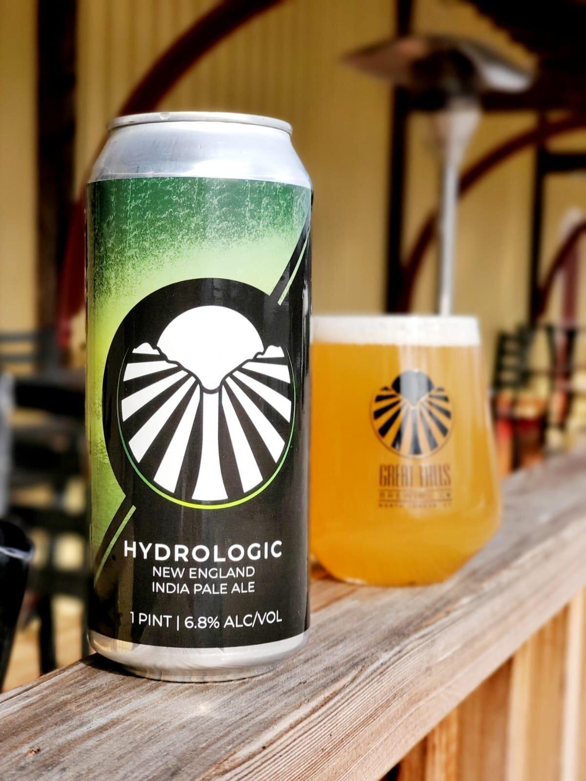 Great Falls Hydrologic Neipa beer Label Full Size