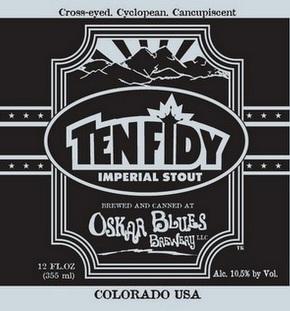 Oskar Blues Ten Fidy 2013 beer Label Full Size