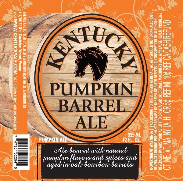 Lexington Pumpkin Barrel Ale beer Label Full Size