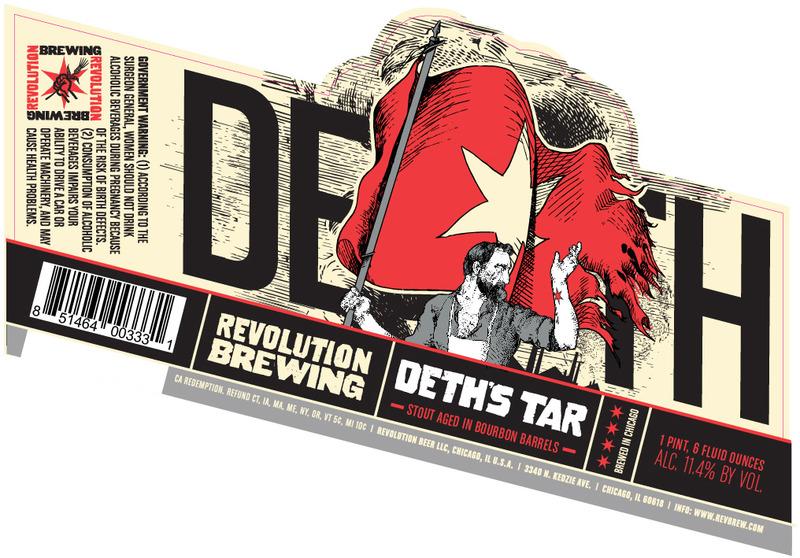 Revolution Deth's Tar Imperial Stout beer Label Full Size