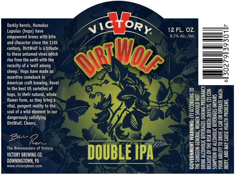Victory DirtWolf beer Label Full Size