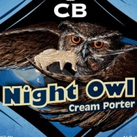 Custom Brewcrafters Night Owl Cream Porter beer Label Full Size