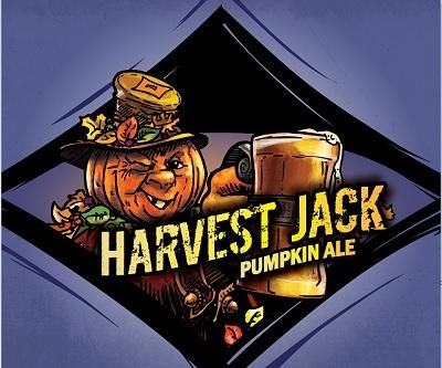 Custom Brewcrafters Harvest Jack Pumpkin Ale beer Label Full Size