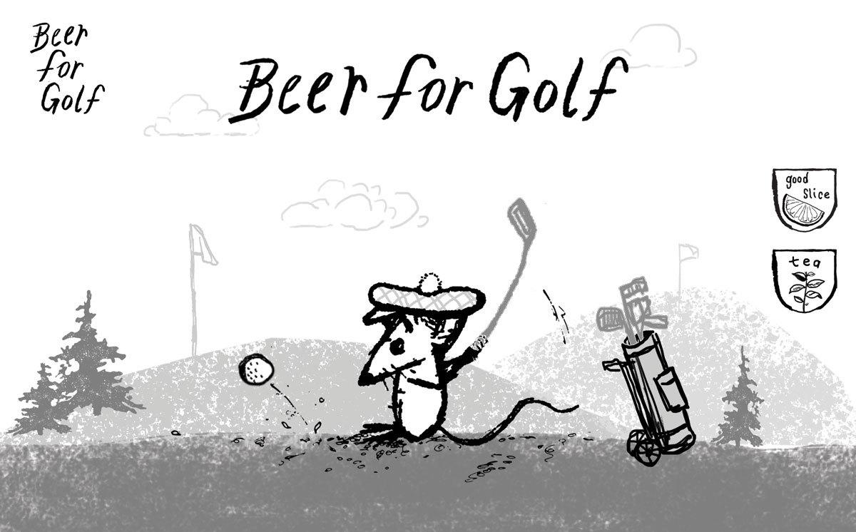 Off Color Beer For Golf beer Label Full Size