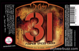 DuClaw 31 Pumpkin Spiced Lager beer