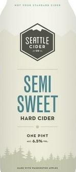 Seattle Cider Semi-Sweet beer Label Full Size