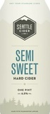 Seattle Cider Semi-Sweet beer