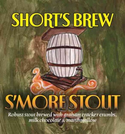Short's S'mores Stout beer Label Full Size