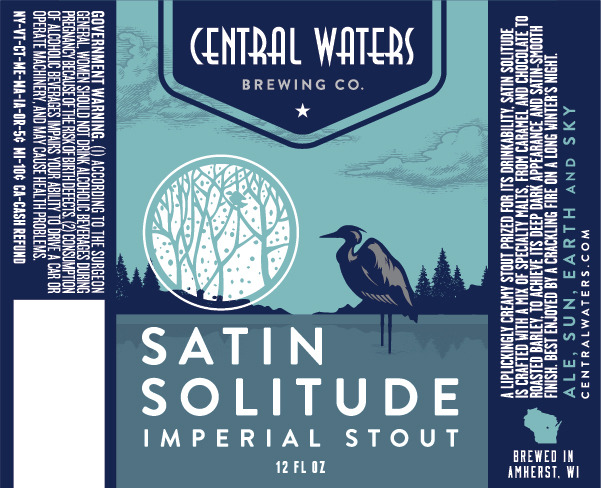 Central Waters Satin Solitude Imperial Stout Beer