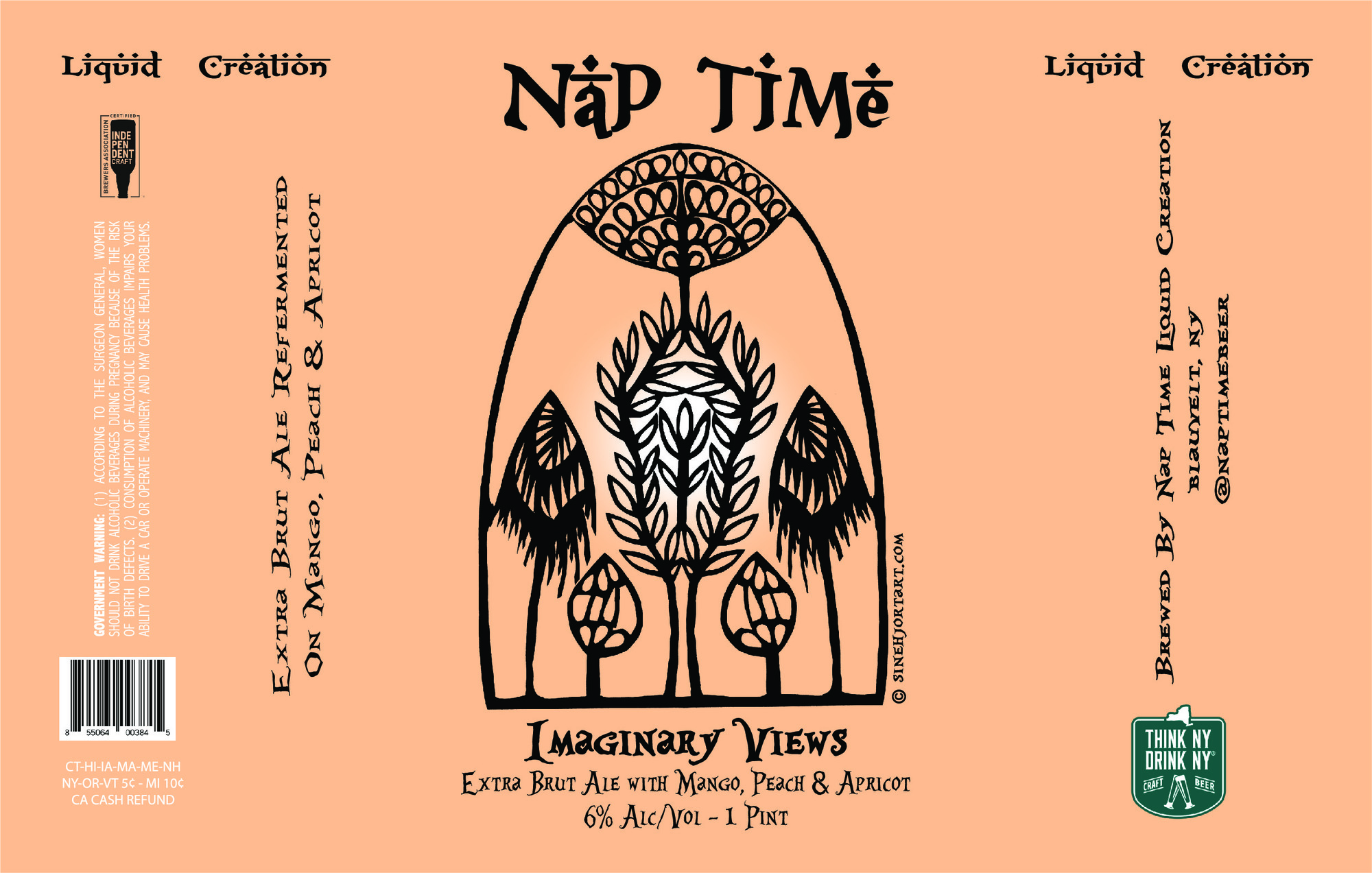 Nap Time - Imaginary Views - Mango beer Label Full Size
