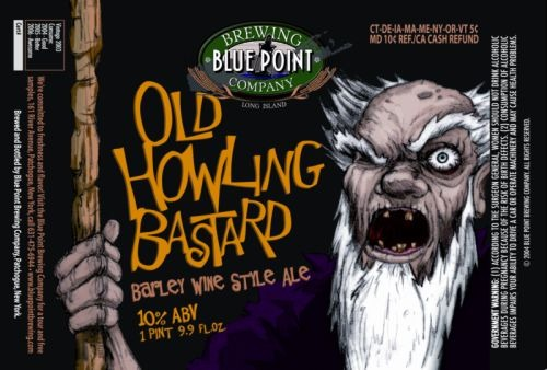 Blue Point Old Howling Bastard beer Label Full Size