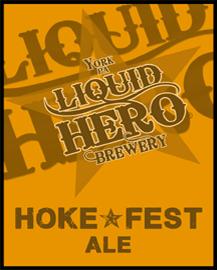 Liquid Hero Hoke Fest beer Label Full Size