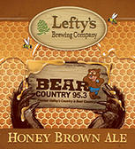 Lefty's Honey Brown Ale beer Label Full Size