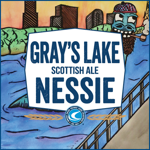 Confluence Gray's Lake Nessie Scottish Ale beer Label Full Size