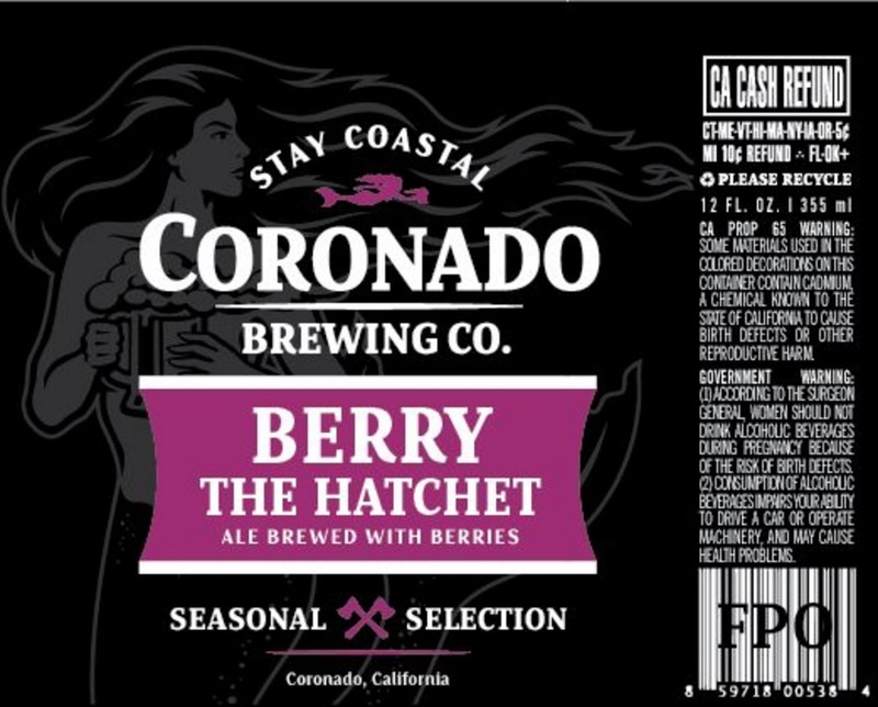 Coronado Berry The Hatchet beer Label Full Size