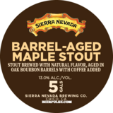 Sierra Nevada Barrel Aged Maple Stout beer