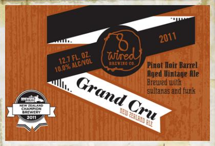 8 Wired Grand Cru 2011 beer Label Full Size