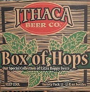 Ithaca Box of Hops beer Label Full Size