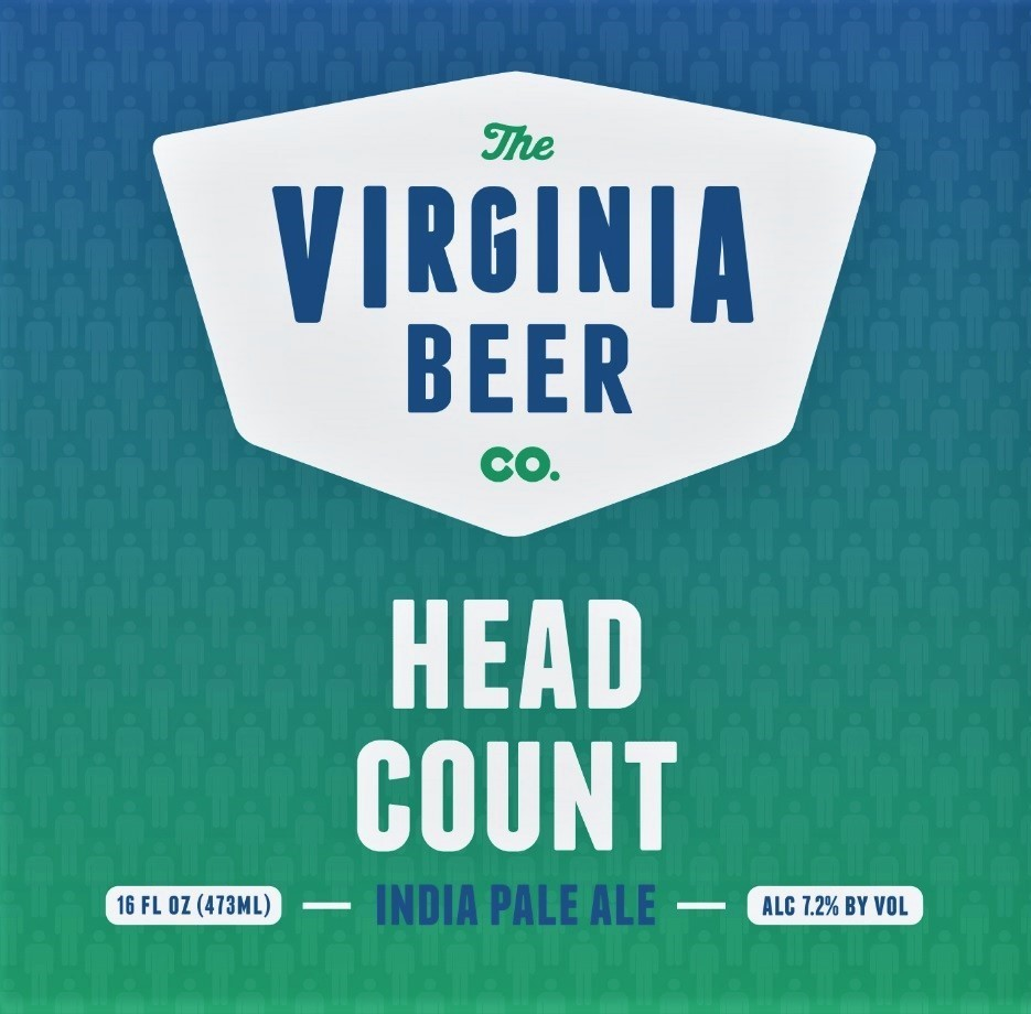 Virginia Beer Co. Head Count beer Label Full Size
