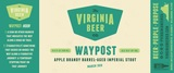 Virginia Beer Co. Waypost: Apple Brandy beer