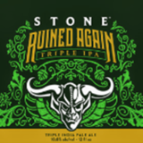 Stone Ruined Again Triple Ipa beer