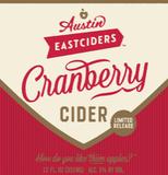 Austin Eastciders Cranberry Cider beer