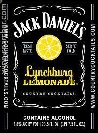 Jack Daniels Lynchburg Lemonade beer Label Full Size