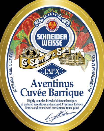 Schneider Aventinus Cuvee Barrique beer Label Full Size