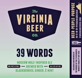 Virginia Beer Co. 39 Words (2020) beer
