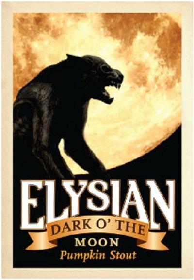 Elysian Dark 'O the Moon Pumpkin Stout 2012 beer Label Full Size