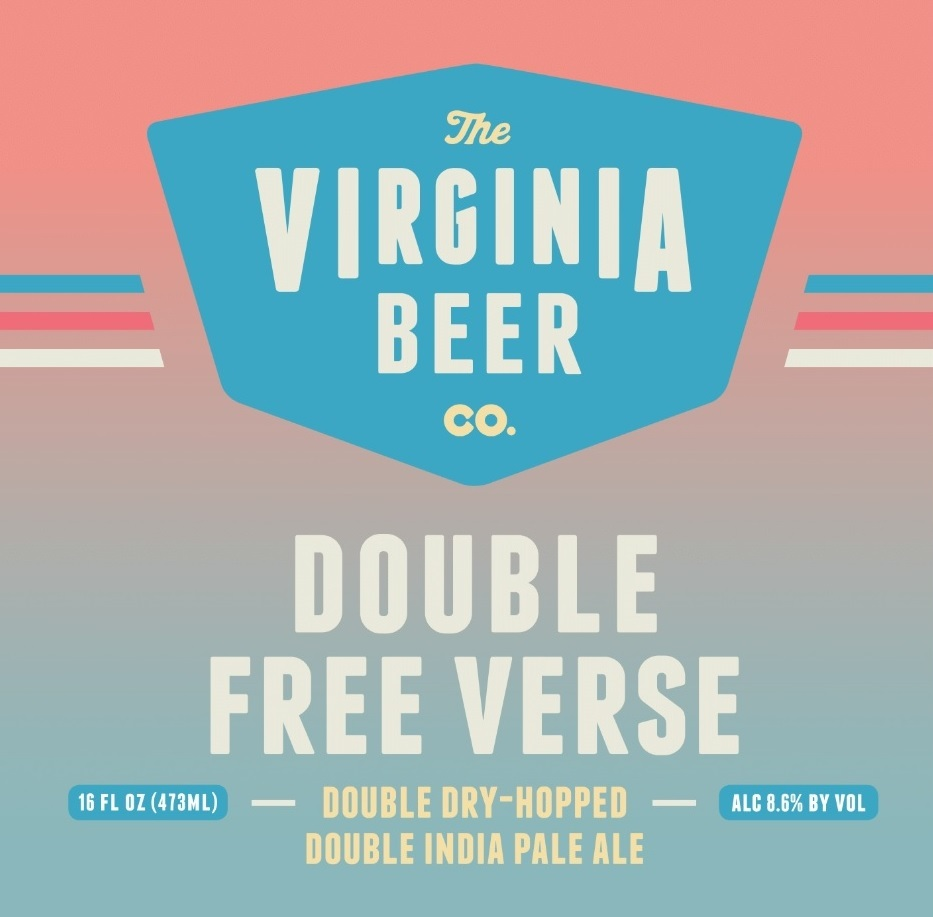 Virginia Beer Co. Double Free Verse beer Label Full Size