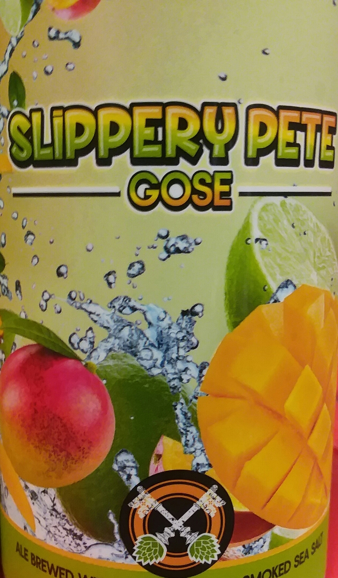 Cross Keys Slippery Pete beer Label Full Size