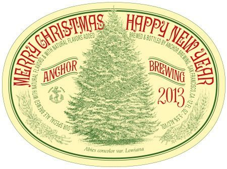 Anchor Christmas 2013 beer Label Full Size