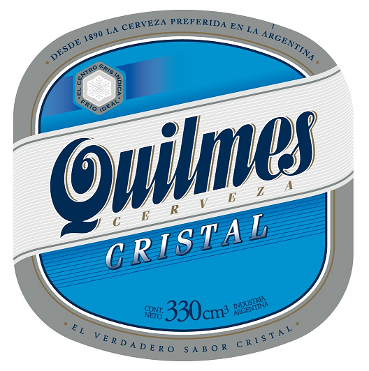 Quilmes Cristal beer Label Full Size