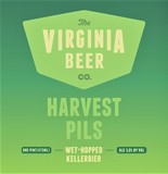 Virginia Beer Co. Harvest Pils beer