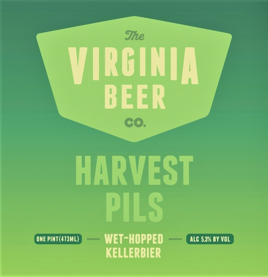 Virginia Beer Co. Harvest Pils beer Label Full Size