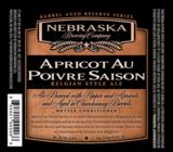 Nebraska Apricot Au Poivre Chardonnay Barrel Aged Saison beer
