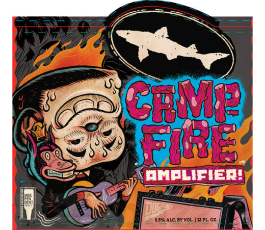 Dogfish Head Campfire Amplifier beer Label Full Size