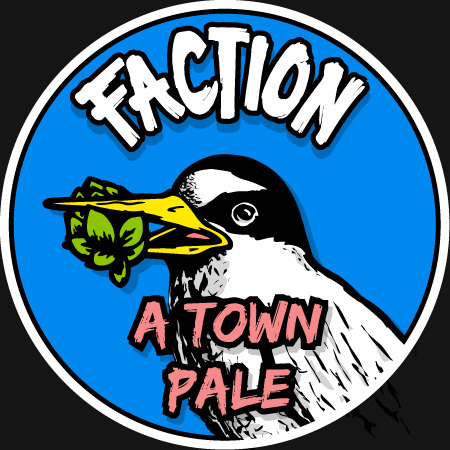 Faction A-Town Pale Ale beer Label Full Size