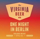 Virginia Beer Co. One Night In Berlin beer