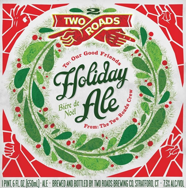 Two Roads Holiday Ale beer Label Full Size
