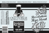 Old Forge Resolution Rye Stout beer
