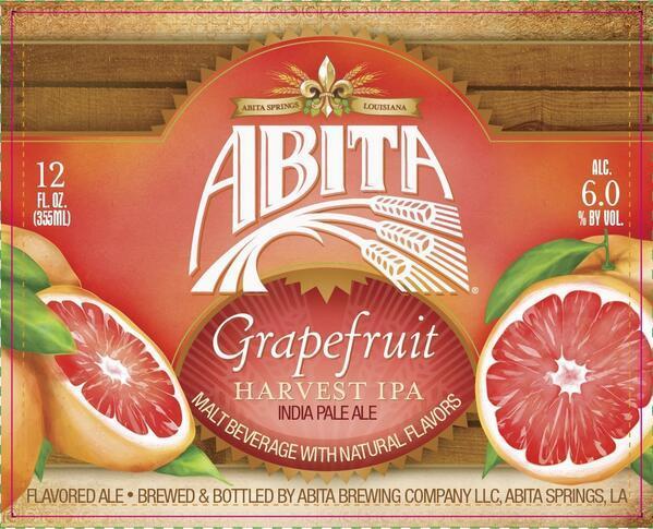 Abita Grapefruit Harvest IPA beer Label Full Size
